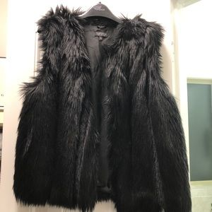 Topshop fake fur vest Womens